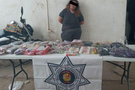 Detenida por almacenar pólvora de manera clandestina en Kanasín