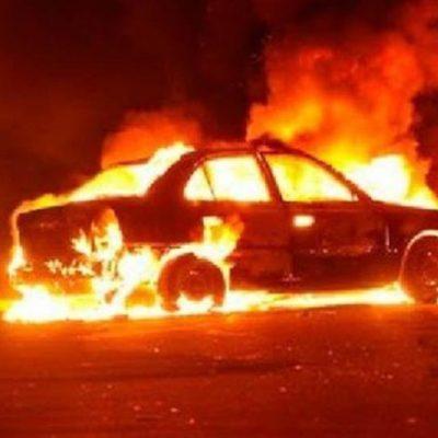 Queman auto de uno de los hombres asesinados en la García Ginerés