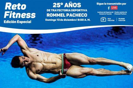 Rommel Pacheco se une al Reto Fitness del Instituto del Deporte de Yucatán