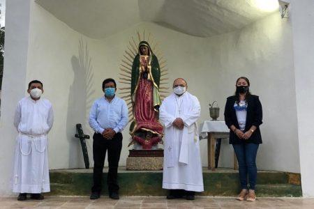 Bendicen la Ermita de Guadalupe, construida con donaciones en Chichimilá