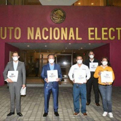 Registran ante el INE la coalición 'Va por México'