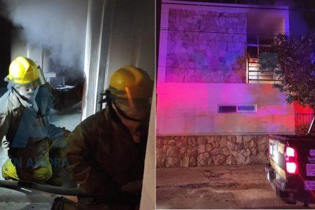 Adornos navideños causan incendio en una vivienda del fraccionamiento Yucalpetén