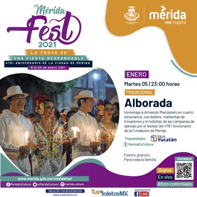Mérida, lista para celebrar el 479 aniversario de su fundación