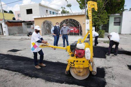 Meta de 2021: abatir el rezago en mantenimiento vial en Mérida