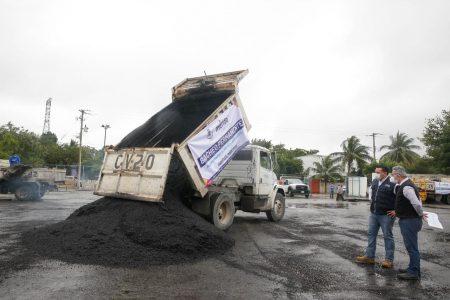 Ininterrumpida labor de bacheo del Ayuntamiento