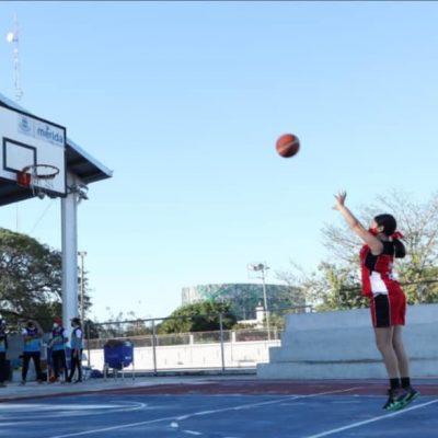Mucha acción en el Torneo Municipal de Baloncesto en el Fraccionamiento Cordemex