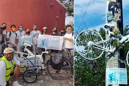 Justicia para Jacinto: realizan rodada nacional y colocan bici blanca en su memoria