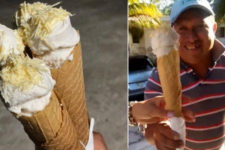 Nacen en Chabihau las Birzas, marquesita con helado, ahora en Mérida