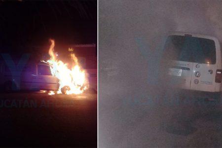 Se incendia su camioneta durante la madrugada