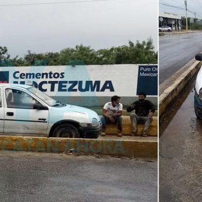 Siguen los accidentes por el piso mojado: se accidentan trabajadores con un Chevy