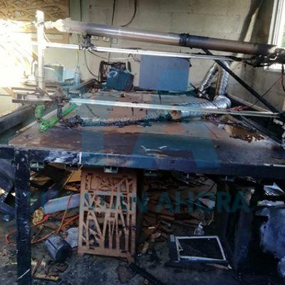 Se incendia su máquina de corte y grabado láser al caerle un bote con pintura