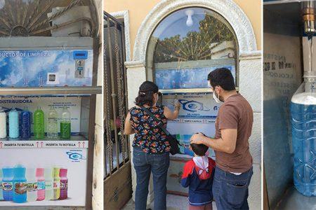 Yucateco instala la primera máquina despachadora de productos de limpieza