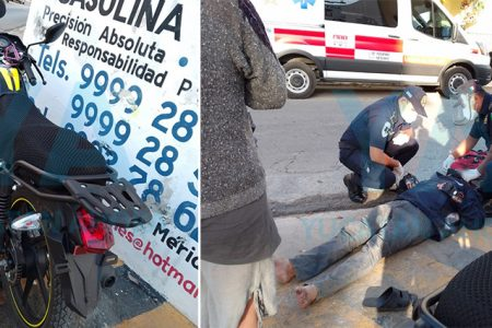 Motociclista dormita y se impacta contra un muro