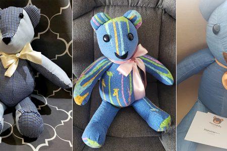 Elabora osos de memoria con prendas de seres queridos fallecidos