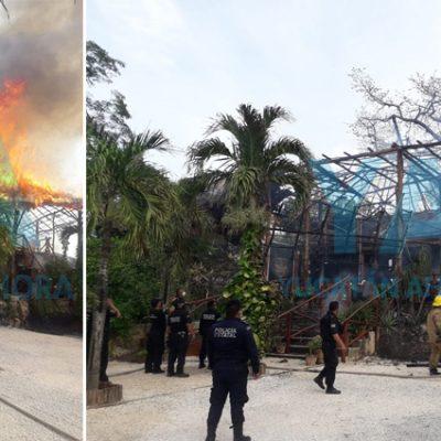 Arde en llamas palapa del Hotel Zenti'k Project de Valladolid
