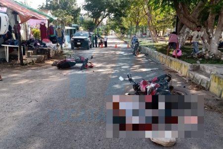 Motociclista ebrio choca con otra moto y causa la muerte de un adulto mayor