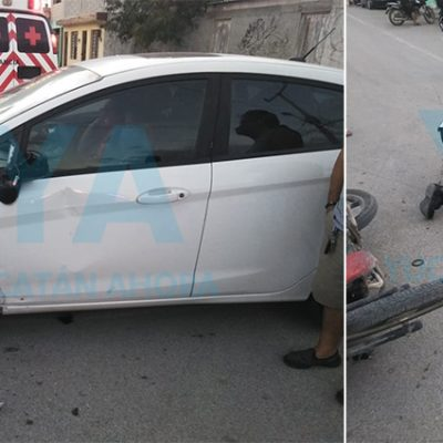 Conductora se vuela el alto y atropella a una motociclista