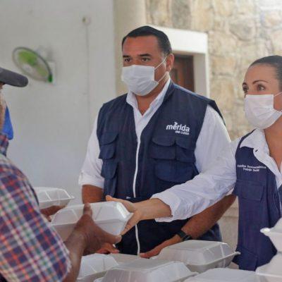 Renán Barrera agradece a los meridanos por apoyar a los más vulnerables