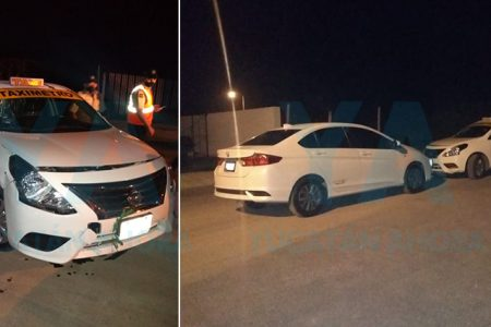 Taxista ebrio choca dos autos en Los Héroes