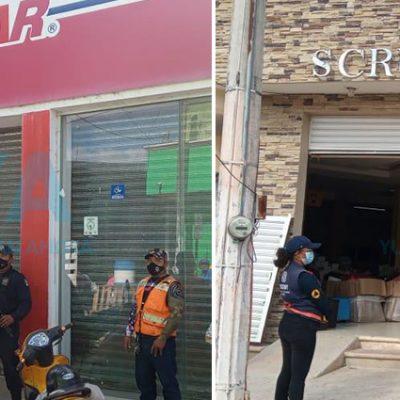Clausuran dos negocios en Ticul por infringir medidas preventivas contra Covid-19