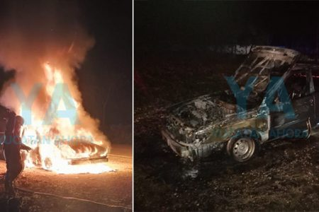 Pierde su Tsuru tras incendiarse en carretera