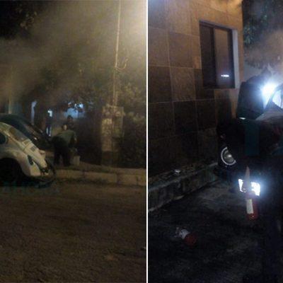 Se incendia su auto estacionado durante la madrugada