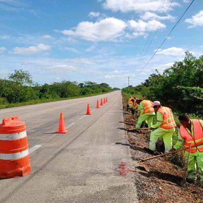 Invertirán 72 millones para rehabilitar 59.3 km de la red federal de carreteras en Yucatán