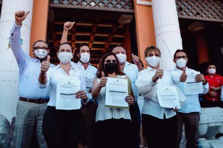 Se registran candidatos del PRI a las diputaciones federales por Yucatán