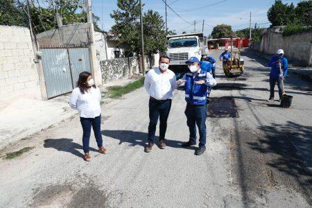 El alcalde Renán Barrera no baja la guardia para acabar con los rezagos en bacheo