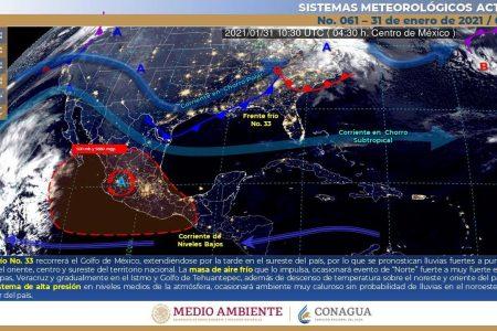 'Heladez' del frente frío 32 empatará con el frente frío 33, ya en camino