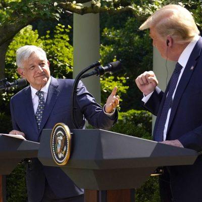Trump agradece la amistad de López Obrador, por cuidar las fronteras