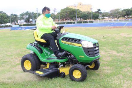 Refuerzan brigadas del Idey para dar mantenimiento a las instalaciones deportivas