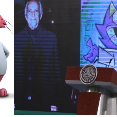 AMLO recuerda a Jorge Arvizu y sus personajes: El Tata y Benito Bodoque