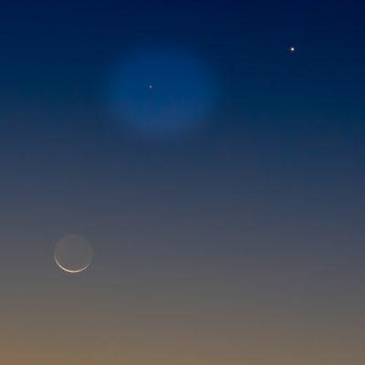 Esta semana doble regalo celestial: Conjunción de Marte y máxima elongación de Mercurio