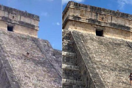 Va el INAH Yucatán tras turista que subió al Castillo de Kukulcán