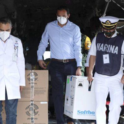 Llegan a Yucatán 2,925 nuevas vacunas contra Covid-19