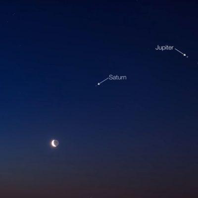 Hoy, alineación planetaria con la Luna