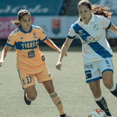 Lupita Worbis y el Puebla femenil, cerca de robarle un empate al campeón Tigres