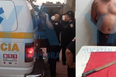 Mecánico ataca con un machete a un niño de seis años