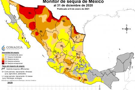 Frontera Sur y Península de Yucatán, libres de sequía