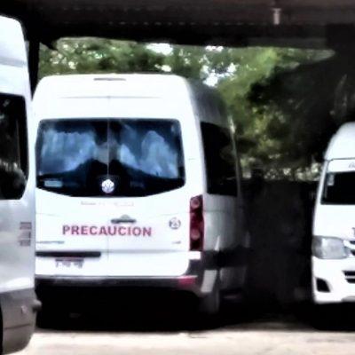 Denuncian que taxis de la ruta Mérida-Ticul no respetan la sana distancia