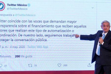 Twitter le responde a AMLO sobre acusaciones a un directivo de la red social