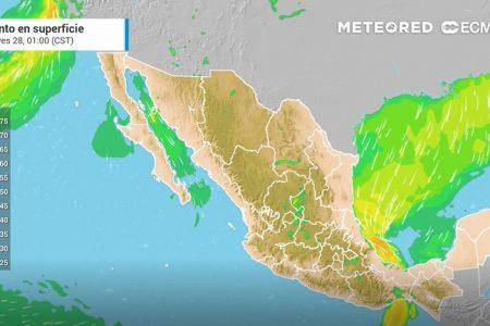 Se aproxima el frente frío 32 a Yucatán: sus efectos se sentirán desde esta noche