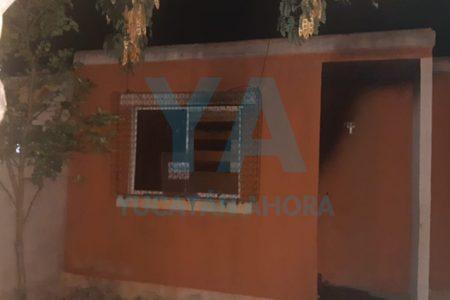 Incendian una casa abandonada en Kanasín