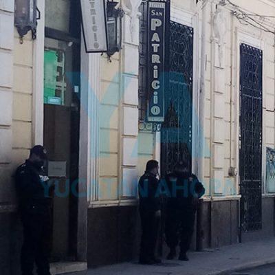 Encuentran sin vida a un joven en hotel del centro de Mérida