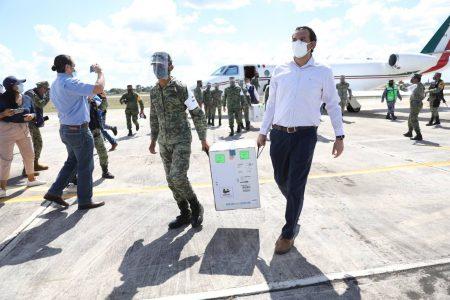 Llegan a Yucatán más vacunas contra el Covid-19