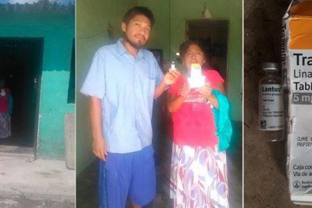 Madre e hijo diabéticos piden apoyo para conseguir medicamentos