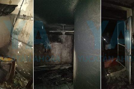 Vecino huye tras provocar incendio en un departamento de Montes de Ame