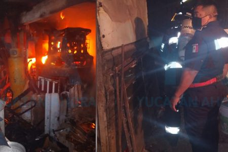 Se despierta por olor a humo; era su cocina que se incendiaba