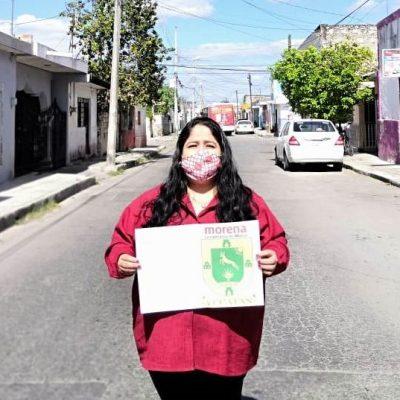 Nínive Zuñiga se registra como precandidata por Morena para la alcaldía de Mérida